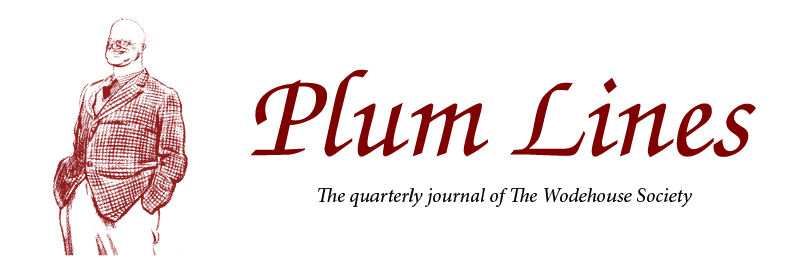 Plum Lines masthead: The quarterly journal of The Wodehouse Society